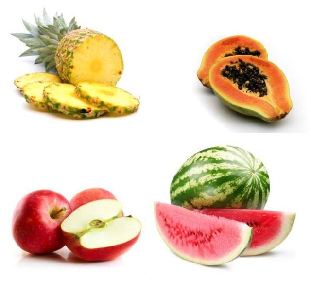 Fruta com médio e alto teor de frutose