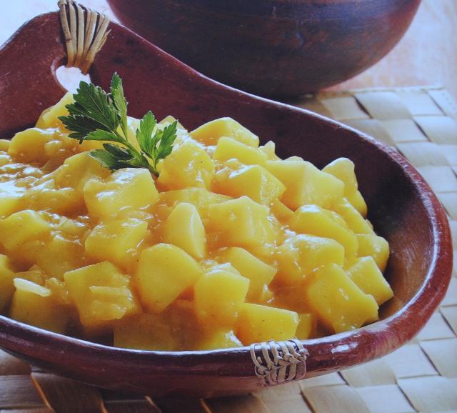 Caril de batata e cebola