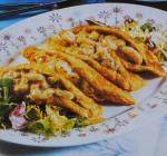 Omeleta recheada com camarão