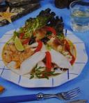 Salada fria de sapateira e peixe