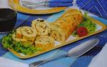 Torta de bacalhau com azeitonas