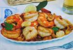 Camarão frito com caju