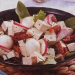 Tofu com ovos de coderniz
