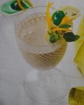 Batido de espargos com natas de soja