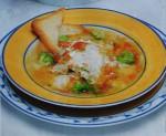 Sopa de bacalhau com ovo escalfado