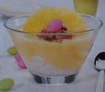 Delícia de abacaxi e natas